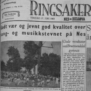 Sang- og musikkstevne Nes 1969