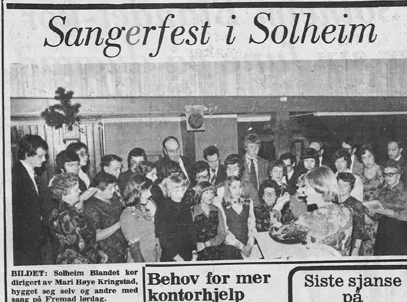 Sangerfest i Solheim