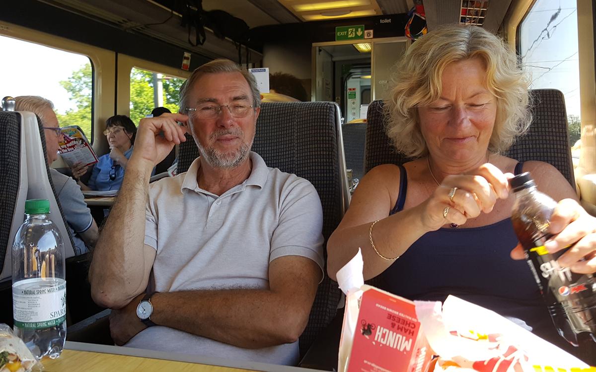 Fra London var det en to timers behagelig togtur til York.