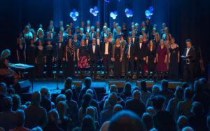 Solheimkorets 50-års jubileumskonserten i Teatersalen Brumunddal 3. mars 2018. Foto: Henning Ramseth.