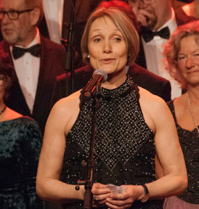 Sigrid J. Langsjøvold, leder i Solheimkoret 2017.