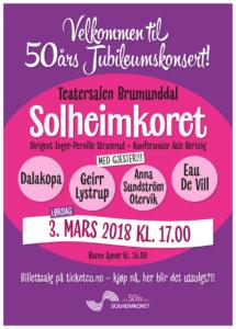50 års jubileumskonsert 2018