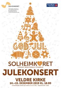 Julekonsert i Veldre kirke 14.-15. desember 2019.