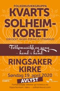 Kvarts og Solheimkoret i Ringsaker kirke utsatt