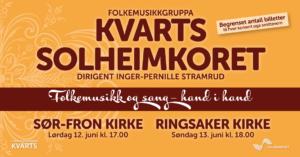 Kvarts og Solheimkoret i Sør-Fron og Ringsaker kirke